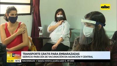 Jajerovia transporte llevará a las embarazadas hasta los vacunatorios