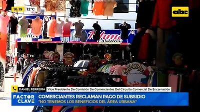 Comerciantes de Itapúa reclaman pago de subsidio