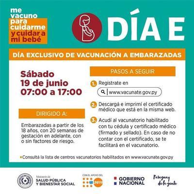 """Vacunáte hoy, """"Día E"""", exclusivo para embarazadas – Prensa 5"""