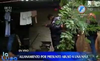 Allanan vivienda en caso de abuso de niña de tres años