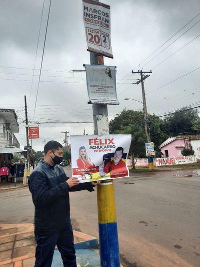 Luque: retiran propaganda electoral de inmediaciones de locales de votación