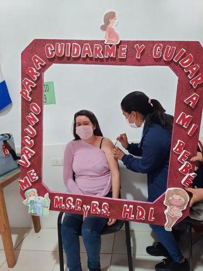 Se espera inocular hoy al total de mujeres en gestación registradas en Guairá