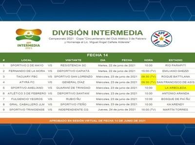 Cambio de horarios en fecha de adelanto de la Intermedia