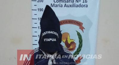 DETIENEN A UN HOMBRE EN MARÍA AUXILIADORA.
