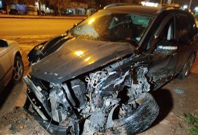 Cuádruple accidente deja daños materiales y heridos leves sobre la Transchaco