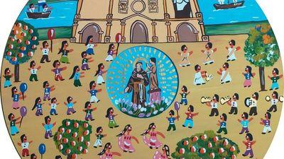 Habilitan colorida muestra sobre las fiestas patronales