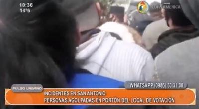 Se registran incidentes en colegio electoral de San Antonio