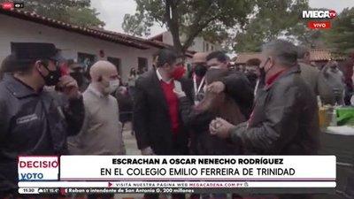 """Incidentes por presencia de """"Nenecho"""" en local de votación de Trinidad"""