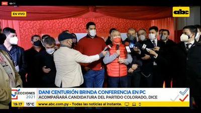 Dani Centurión reconoce su derrota en Asunción