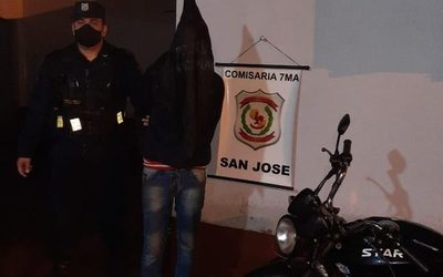 Detienen a marginal con dos órdenes de captura, con moto robada a un trabajador – Diario TNPRESS