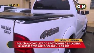 Policía alcoholizado protagonizó balacera en Ñemby