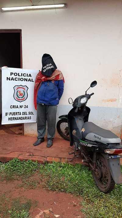 Detienen a presunto delincuente y recuperan motocicleta robada