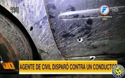 Un policía ebrio baleó a un automovilista tras roce vehicular en Ñemby •