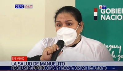 Madre de Manuelito pide ayuda a la ciudadanía