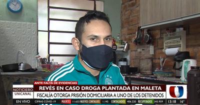 Caso droga en maleta: otorgan prisión domiciliaria a uno de los detenidos