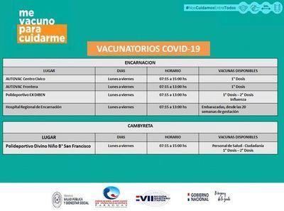 Esta semana sigue el programa de vacunación anticovid en Itapúa