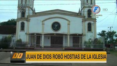 Se roban hasta las hostias de una capilla en Encarnación
