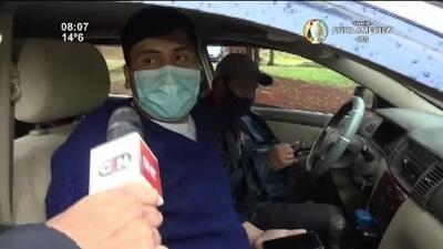 CDE: Inició la jornada de vacunación con largas filas de vehículos