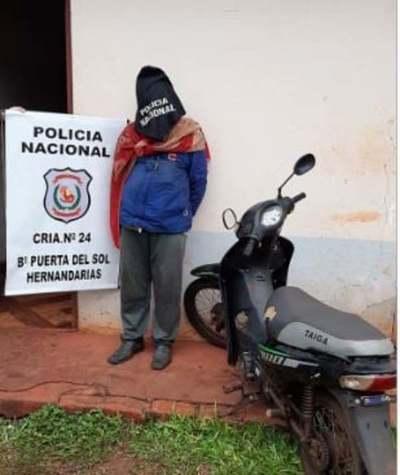 Procesan a un hombre por robar una moto en Hernandarias