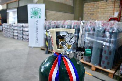 Refuerzan provisión de oxígeno a hospitales con 500 balones adquiridos a través de Yacyretá