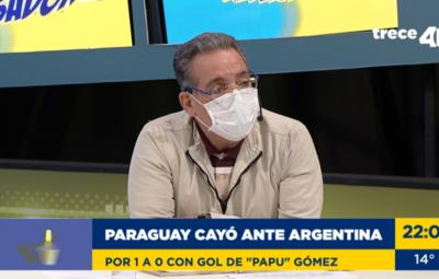 """Valenzuela: """"En el segundo tiempo, Paraguay fue avasallante pero sin letalidad"""""""