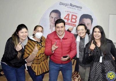 ANR: Diego Romero encabeza lista de candidatos a concejales en Luque •