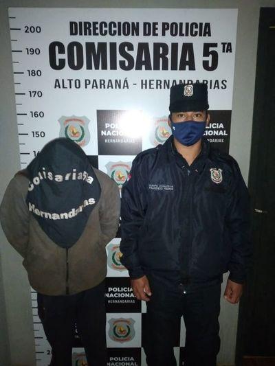 Víctima persiguió y atrapó a un ladrón domiciliario en Hernandarias