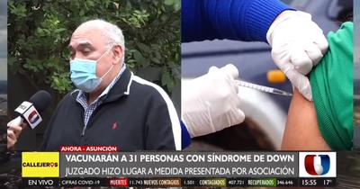 31 personas con síndrome de Down serán vacunadas mediante amparo