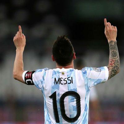 Nuevo récord de Messi con Argentina