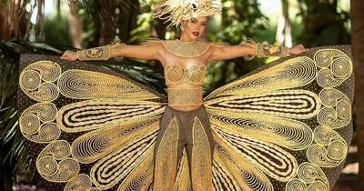 La Nación / Joya de mi tierra: artista plástico islapucuense creó traje alegórico a la Miss Grand Paraguay
