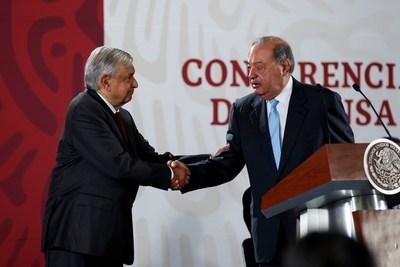 Slim se reúne con López Obrador y alcaldesa capitalina por accidente de metro