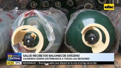 Salud recibe 500 balones de oxígeno
