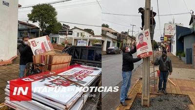 INTENSO RETIRO DE PROPAGANDA ELECTORAL DE CALLES DE ENCARNACIÓN.