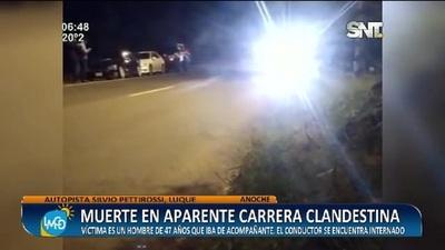 Autopista: Muerte en aparente picada clandestina