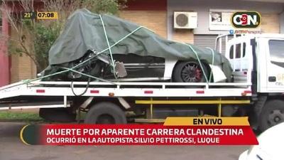 Muerte por aparente picada clandestina sobre Autopista Silvio Pettirossi