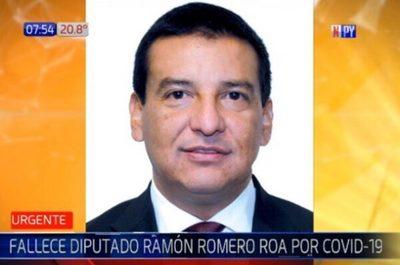 Diputado Ramón Romero Roa fallece a causa del Covid-19