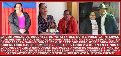 UNA PROFESORA SIN ESCRUPULOS RESPALDADA POR POLITICOS