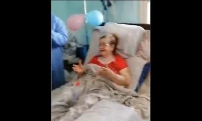 Doñita de 71 años estuvo 23 días en terapia por covid… salió de alta el día de su cumpleaños