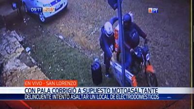Comerciante redujo a palazos a motoasaltantes en San Lorenzo