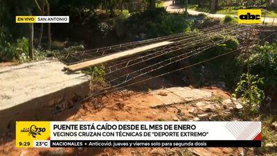 San Antonio: Puente está caído desde enero
