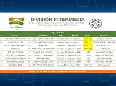 Cambio de horarios en partidos de la fecha 15