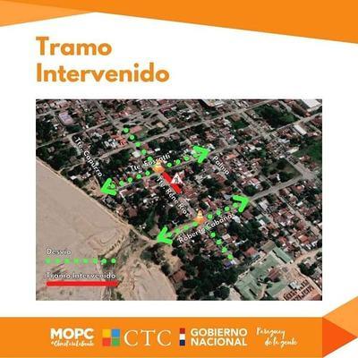Por ejecución de obras de desagüe pluvial establecen desvíos en barrio San Antonio de Pilar