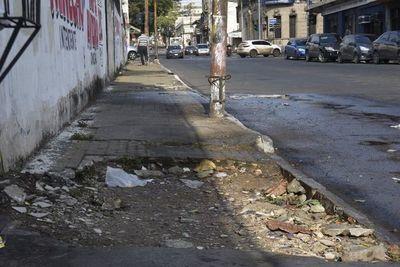 Este es el ranking de las peores veredas de Asunción