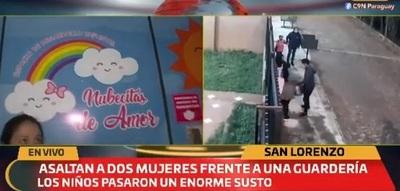 Dos mujeres son asaltadas frente a guardería y niños