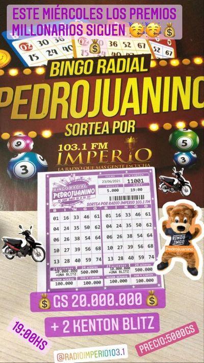 Bingo Radial Pedrojuanino el bingo que premia a todos