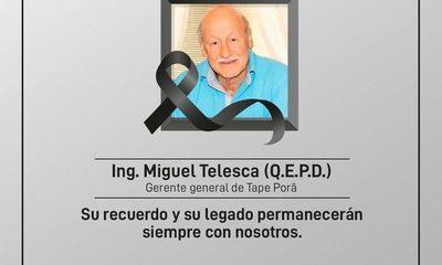 Fallece directivo de Tape Porã
