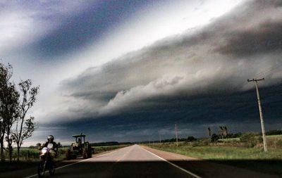Alerta meteorológica por tormentas eléctricas y ocasional caída de granizos en el Sur