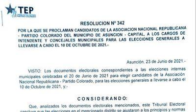 ANR: Hubo voto cruzado para concejales de Asunción