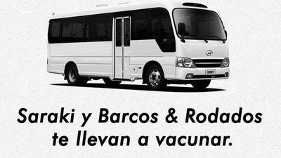 Saraki te lleva a vacunar de la mano de Barcos & Rodados