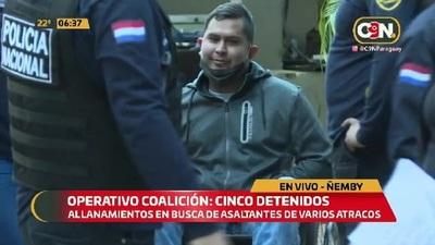 Operativo Coalición: Detenidos tras allanamientos